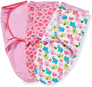 SwaddleMe Original Swaddle , Elephant Hearts Small (0-3 Months),Pack of 3