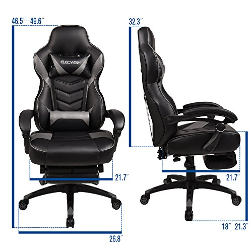 Elecwish Racing Video Gaming/Executive Office Chair