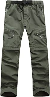 comprar comparacion VPASS Pantalones Hombre,Pantalones de Trekking Deportes al Aire Libre Trabajo Pantalones Jogging Desmontable Pants