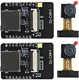 KeeYees 2 Set Cámara WiFi + Bluetooth 4M PSRAM 32 bits Junta de Desarrollo de Doble CPU núcleo + OV2640 2MP Módulo de Cámara
