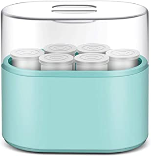 WGNHM Yogurt machine, household yogurt machine, fully automatic dormitory, handmade glass ceramic cup (Color : Blue)