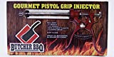 Butcher BBQ Pistol Grip Gourmet Meat Injector Metal Handle 50cc Pistol Grip Syringe with 2 Different...