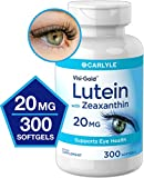 Lutein and Zeaxanthin 20mg | 300 Softgels | Eye Health Vitamins | Non-GMO