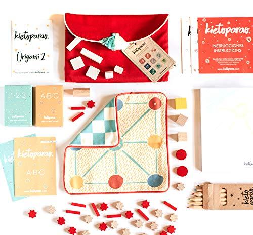 Kietoparao Red Edition - Bolsa de Juegos Reunidos - 20 Juegos educativos en 200 Gramos…