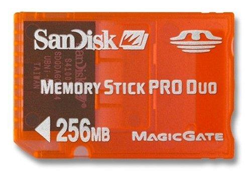 SanDisk Memory Stick Pro Duo - Tarjeta de Memoria de 256 MB