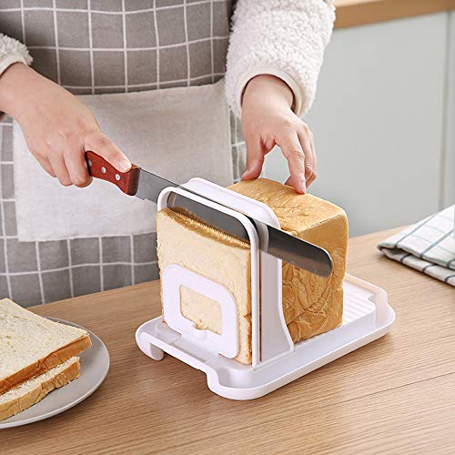 Bread slicer, bread/bake/bread slicer cutter, compact foldable bread sandwich toast bread slicer