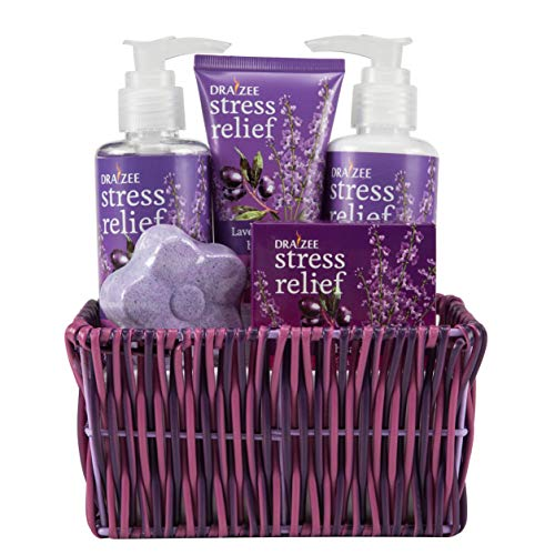 Draizee Home Spa Gift Set Luxurious 5 Piece Home Relaxation Lavender...