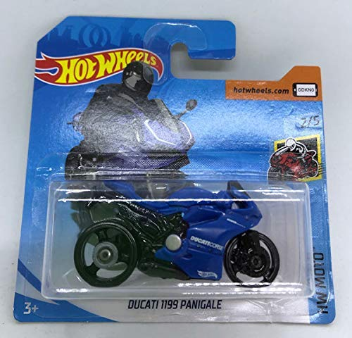2019 Hot Wheels Ducati 1199 Panigale Blue 2/5 HW Moto 58/250 (Short Card)
