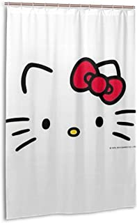 Lxjjj Stall Fabric Shower Curtains,Fashion Hello Kitty Printed Bathroom Curtain,48 by 72 Inch