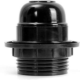 Douille d'ampoule E27, Ampoule à vis E27 Douille Support Pendentif Prise de Courant Abat- Abat-jour Bague Connecteur Adapt...