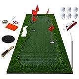EAHKGmh Golf Praxis Schlagen Mat Golf Putting Green Golf Trainingsmatte Professionelle Lange anspruchsvolle Putter for Indoor Outdoor 11.48 × 3.28ft (Color : A)