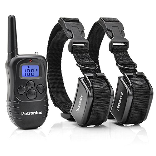 Petronics Shock Collar for Dogs, Dog Training Collar with Remote, Rechargeable Dog Bark Collar for Large/medium/small Dog, E Collar with Static, Vibration, Beep and Light, 330 Yd, for 2 Dogs
