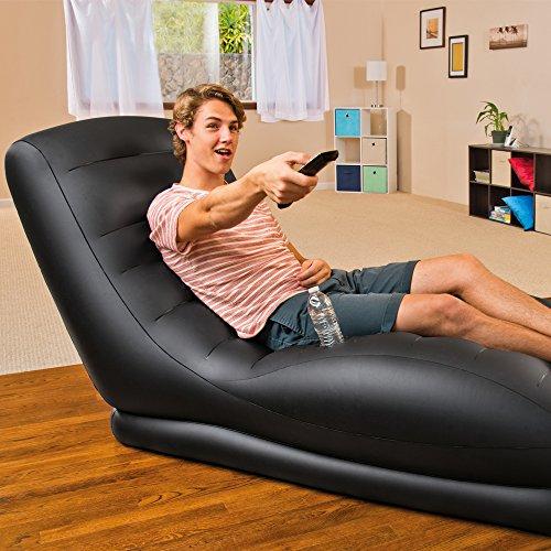 Intex 68595NP - Sillón hinchable aterciopelado 86 x 170 x 94 cm