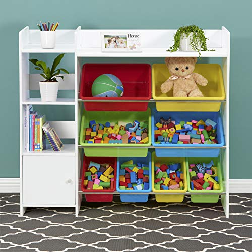 Sturdis Kids Toy Storage Organizer with Kids Toy Shelf and Multi Toy Bins – Perfect Toy Storage Solution - Your Kids Will Have Fun and You Will be Free from Messes!