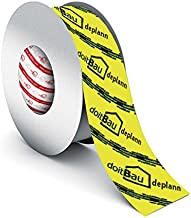 doitBau deplann Stoomvergrendelingstape, geel, 50 mm x 25 m, krachtige tape voor dampblokkerende folie, stoomrem, stoomblo...