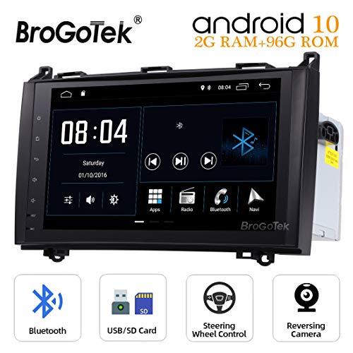 Android 10 Auto Stereo Radio voor Mercedes Benz A-Klasse W169 B-Klasse W245 Sprinter W906 Vito Sat Nav 2 Din 9 Inch Hoofdeenheid met Touch Screen Video Bluetooth GPS USB WiFi 4G Backup Camera UK levering