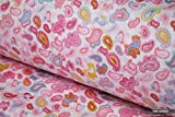 Sommer Paisley Style 100% Baumwolle Stoff 1,6m