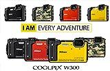 Nikon - Coolpix w300 sensore cmos 16 mpx zoom ottico 5x video 4k wi-fi bluetooth + zaino - arancione