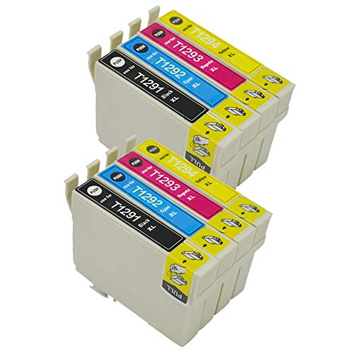 Karl Aiken 8 T1295 - Cartuchos de tinta compatibles con Epson Stylus SX235W SX420W SX425W SX435W SX525WD SX535WD Workforce WF-3520 WF-7515