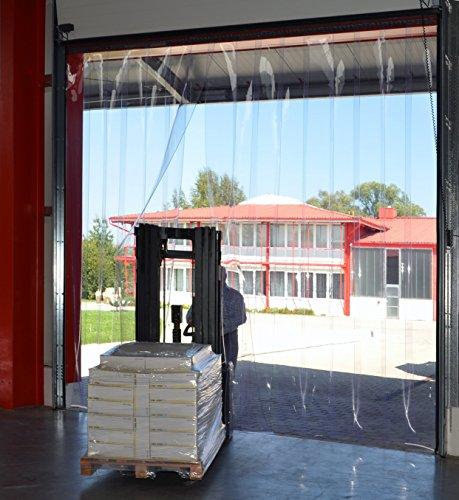 PVC Streifenvorhang Lamellen 2x200mm – H2,00 x B1,05 m – fertig vormontiert – VZ - 5