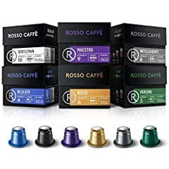 ENJOY PREMIUM QUALITY COFFEE - Every Rosso capsule is made with premium, high-quality coffee and is fully compatible with Nespresso OriginalLine machines. GETTING THE PRICE THAT YOU DESERVE - Gourmet espresso pods doesn't have to cost you the world. ...