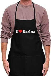I love Karina Small Heart Apron 24