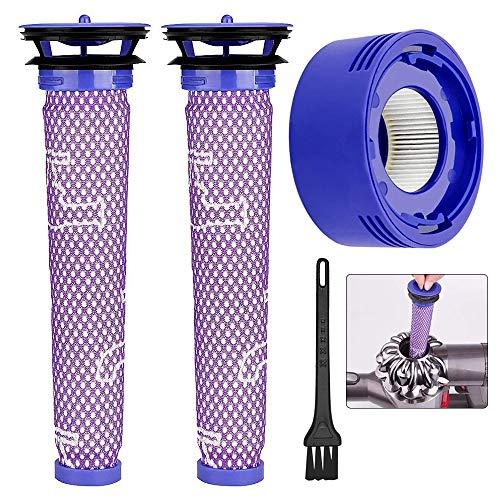 Gobesty Dyson-Vorfilter, Vormotorfilter Staubsauger Vorfilter und HEPA Nachmotorfilter für V7 V8 V10 (mit Reinigungsbürste)