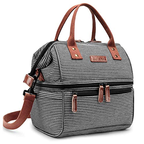 IVY Brotdose, Kühltasche wasserdichte Cooler Picknick-Taschen-Tasche für Männer, Frauen, Double Deck