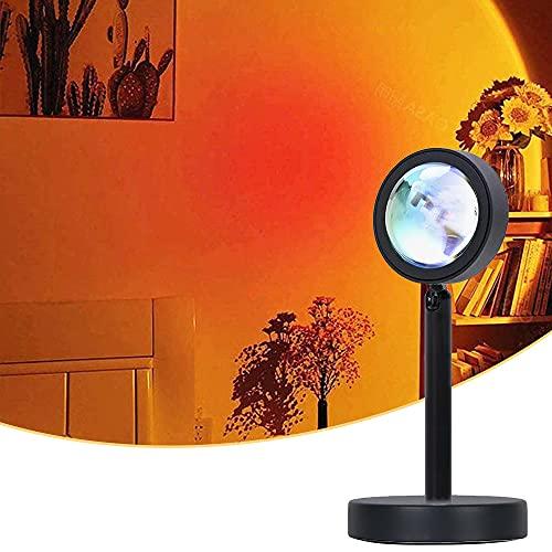 Sunset Lamp, Sunset Projection Lamp,Sonnenuntergang Lampe, Sunset Projector Lichter, USB LED Lampe Licht, 90 ° Drehung Romantische Visuelle Stimmungslampe Beleuchtung Schlafzimmer Deko(Sunset Red)