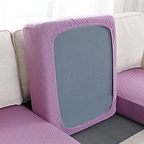 USEFGSBSGGAIUFH Personality - Funda de cojín para sofá, duradera, lavable, elástica, protector de asiento de sofá, decoración del hogar, color morado