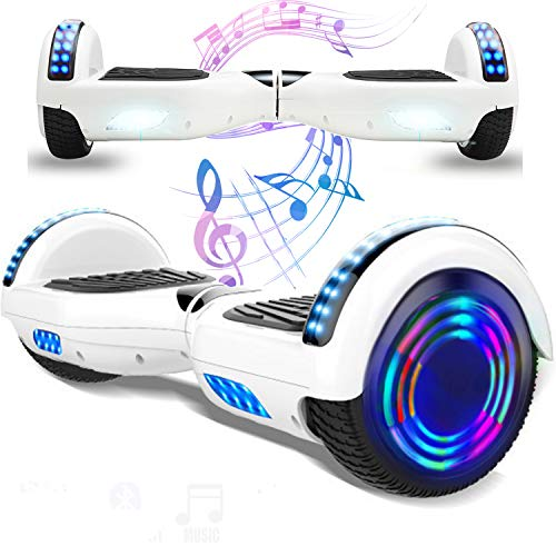 Magic Vida 8´´ Patinete Eléctrico Bluetooth Scooter Monopatín Auto-Equilibrio Patín (Rosa&Negro)