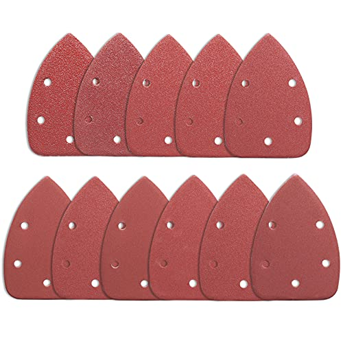 STEBRUAM Fogli Abrasivi, 88 pezzi Carta Abrasiva per Levigatrice Mouse, Da 40 a 800 Grana, 5 Fori, Carte Abrasive per Legno, Ideale per Levigare, Lucidare(140x100mm)