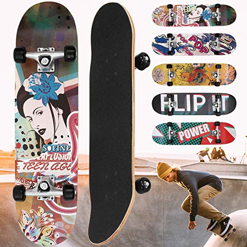 Physionics Skateboard - 31'(78,7 cm), Cuscinetti a Sfera: ABEC 5, Modello a...