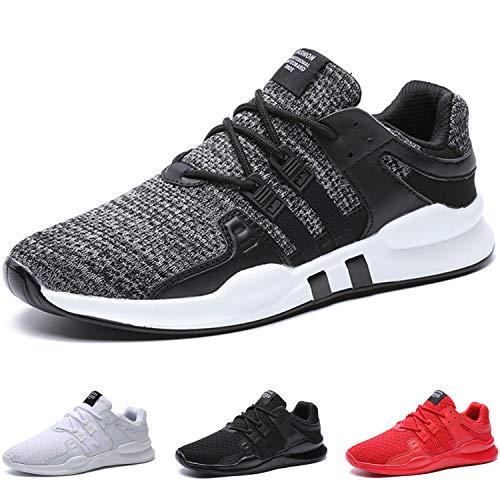 BAOLESME Sportschuhe Herren Atmungsaktiv Gym Laufschuhe Leichtgewicht Turnschuhe Freizeit Outdoor Sneaker,02-grau,EU 46