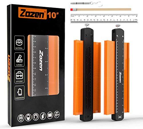 2 Pack 10in Contour Gauge with Metal Lock Contour Gauge Precisely Copy Irregular Shape Outline Gauge Tool Contour Gauge Profile Tool for Diy Woodworking Project Tool Kits…