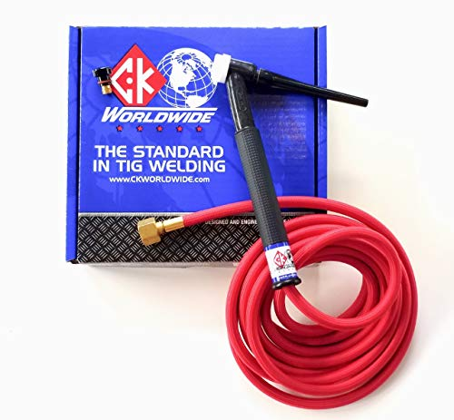 Weldpro CK Worldwide Superflex cable and CK17FX TIG torch with Trigger Switch 12.5 ft. long