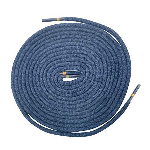 Ringelspitz 1 Paar Schnürsenkel marineblau - rund - dünn - Ø 2,5 mm (120 cm)