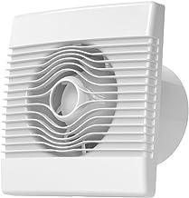 MKK Premium badkamerventilator met hygrostaat, Ø 100 mm, 10 cm, vochtsensor in wit, voor keuken, badkamer, woonkamer, keld...