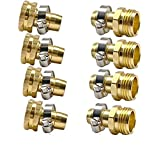 Cecofishus Garden Hose Repair Connector, 3/4'-5/8' Male and Female Garden Hose Fittings with Clamps,No-Leak Easy Connect Adapter Set, Male and Female (4 Sets)