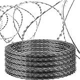 LOERM Razor Wire Galvanized Barbed Wire Razor...