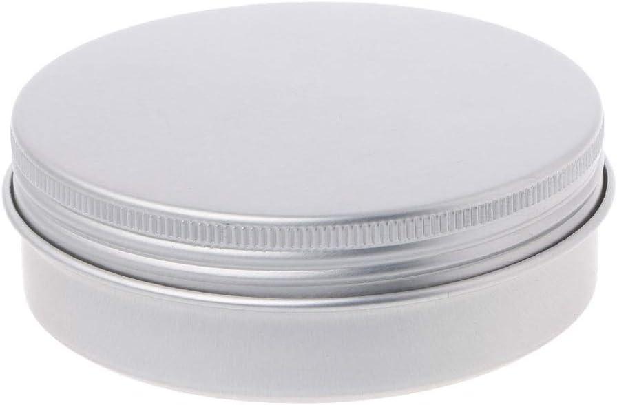 XUEHUA Empty Aluminium Cosmetic Pot Surprise price Rou Jar Tin Container San Francisco Mall Silver