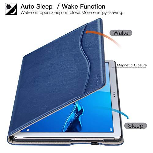 ZtotopCase Hülle für Huawei MediaPad M5 Lite 10, Premium Kunstleder Leichte Case mit Auto Schlaf/Wach Funktion und Pen Halter, für Huawei MediaPad M5 Lite 10.1 Zoll 2018 Modell,Navy blau - 5