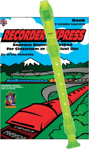 Recorder Pack: Yamaha Green Soprano Recorder with Recorder Express Book