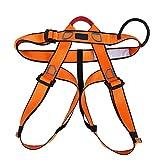 Arnés de escalada Cinturón de seguridad de medio cuerpo Cinturón de seguridad ajustable de usos múltiples para exteriores para escalada en roca Montañismo Rappel Trabajo aéreo(naranja)