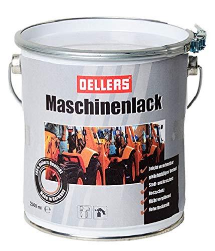 Maschinenlack | 2,5 Liter | Maschio Orange LM 0286 | Kunstharzlack | Landmaschinenfarbe | Industrielack für Eisen, Stahl und Holz