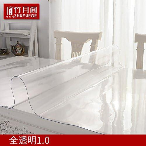 xinhao PVC-Tischdecke Wasserdicht, Weißem Glas, Kunststoff Tischdecke, Tisch Matte, Kaffee Tisch Matte, TranSpaßente Schleifen Tischdecke, Vollst ige TranSpaßenz, 90  140cm