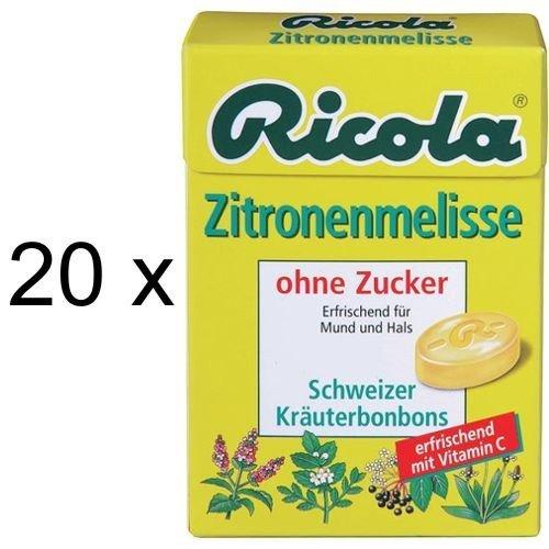 Ricola Zitronenmelisse ohne Zucker (20x 50g Box)