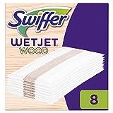 Swiffer WetJet Wood Recharges de Vadrouille pour Tous les Types de Sols 1x8 Lingettes