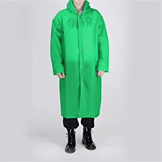 EJY Reusable Waterproof Portable Raincoat, Clear EVA Material | Portable, Light & Compact| Rain Resistant Poncho with Hood...