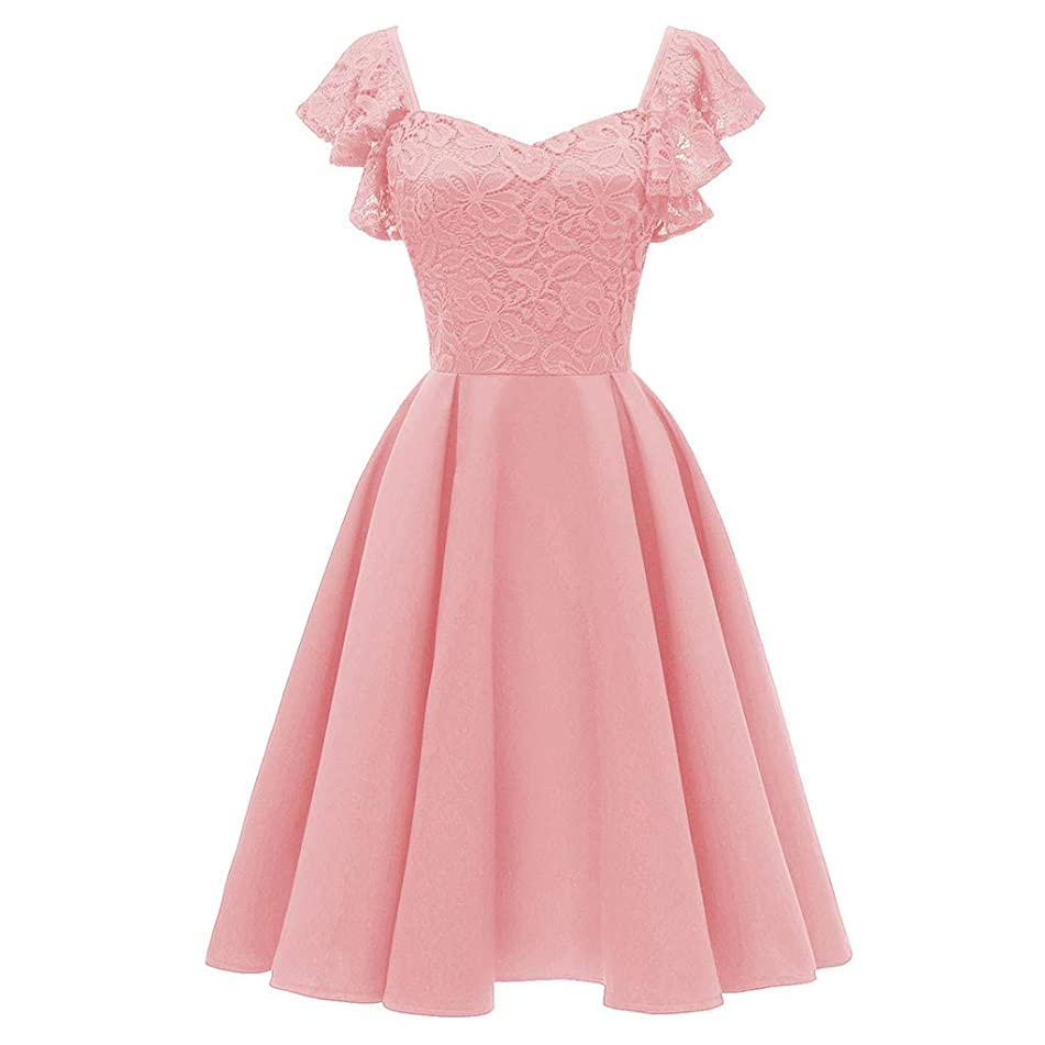 Lace Butterfly Dress for Women Sleeve Chiffon Prom Evening Party Bridesmsid Dress